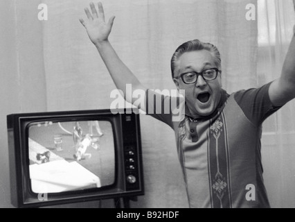 Igor Zhulev researcher at the Institute of Oriental Studies of the USSR Academy of Sciences is a sports maniac - Stock Photo