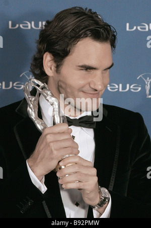 Swiss tennis player Roger Federer the Laureus Sportsman of the Year at the 9th annual ceremony of granting Laureus - Stock Photo