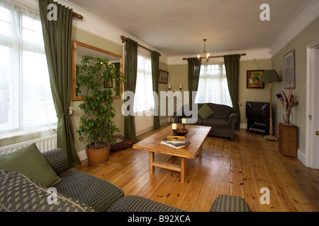 living or sitting room to a Victorian house - Stock Photo