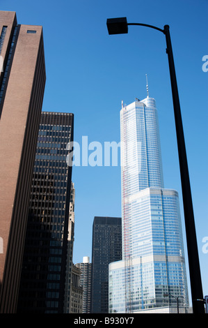 Trump Tower, Chicago, Illinois, United States - Stock Photo