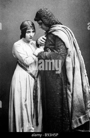 Hamlet by William Shakespeare performed in the Moscow Art Theater 1912 The play was Staged by the English director - Stock Photo