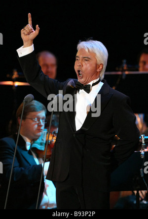 Famous Russian barytone Dmitry Khvorostovsky performing in a concert with South Korean opera singer Sumi Yo at the - Stock Photo