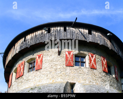 Li The Principality of Liechtenstein Capital Vaduz The Vaduz Castle Palace Tower No third party rights available - Stock Photo