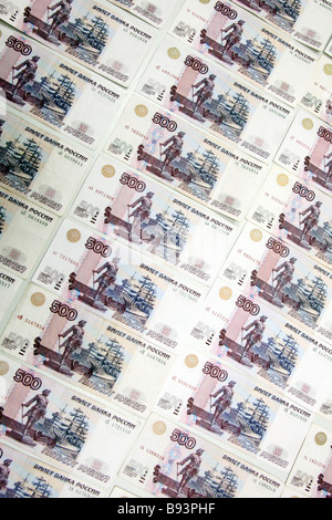 Banknotes Russian rubles - Stock Photo