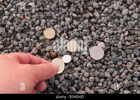 Picking Up Money From The Floor Stock Photo 211784331 Alamy