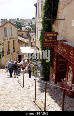 The picturesque village of St Emilion Bordeaux France - Stock Photo