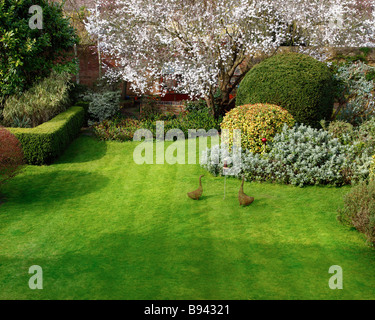 GB - GLOUCESTERSHIRE: Typical English Garden in Spring - Stock Photo