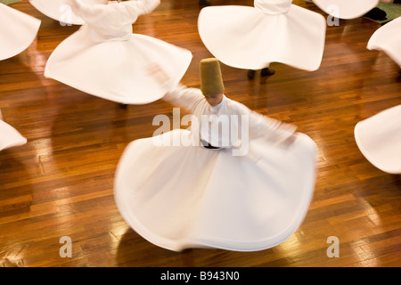 Whirling Dervishes Istanbul Turkey - Stock Photo