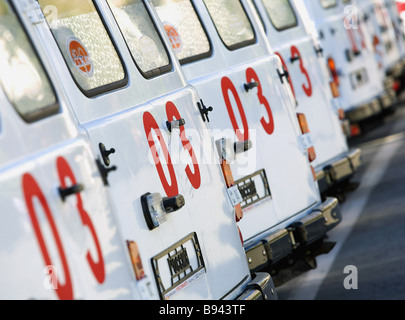 The Kurgan Region in the South Urals has received new ambulances on national Project Health - Stock Photo