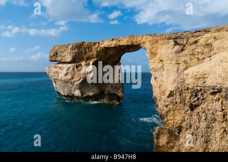 Azure Window rock arch, Gozo Island, Malta, Europe - Stock Photo