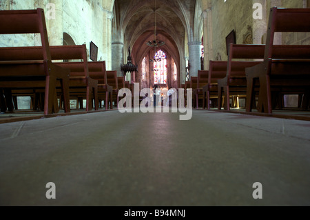 the church at Saint Emilion, Aquitaine, France - Stock Photo