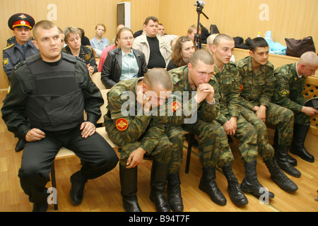 Hearings for the Andrei Sychev case continue at the Chelyabinsk Garrison Military Court - Stock Photo
