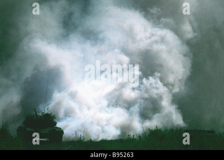 At the Torgau 2005 Russian American dry forces exercise - Stock Photo