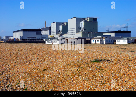 Nuclear power station at Dungeness - Stock Photo