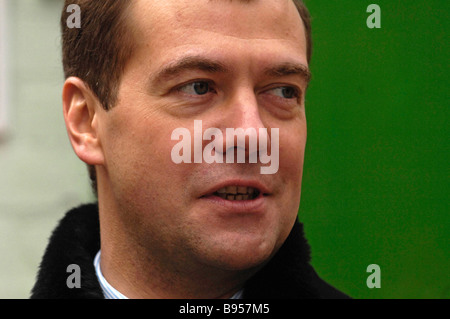 February 1 2008 Russia s First Deputy Prime Minister Dmitry Medvedev visits Rostov on Don - Stock Photo