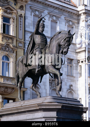 Statue of Ban Josip Jelacic in - Stock Photo