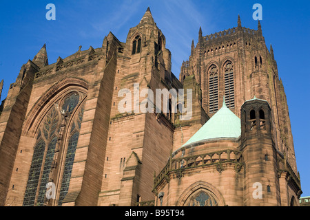United Kingdom, Liverpool, Anglican cathedral (beginning of the 20th century) - Stock Photo