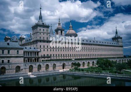 SPAIN Madrid State S Lorenzo de El Escorial Exterior view of the Convent and domed rooftops. - Stock Photo