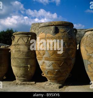 GREECE Crete Knossos. Minoan Palace - Stock Photo