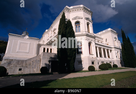 UKRAINE Yalta Livadia Palace. Exterior view from the grounds. - Stock Photo