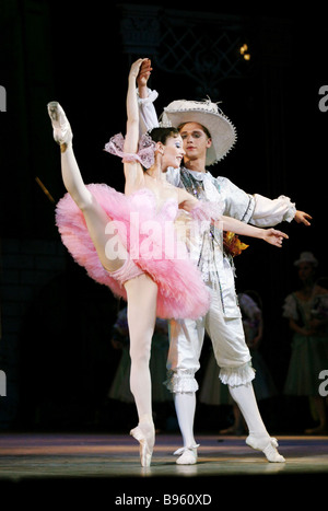 Premiere of new version of ballet The Sleeping Beauty by Peter Tchaikovsky Produced by State Academic Classic Ballet - Stock Photo