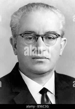 Yury Andropov 1914 1984 Chairman of the State Security Committee KGB of the USSR Council of Ministers Government - Stock Photo