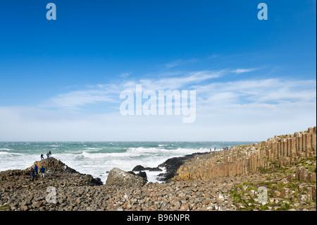 The coast at the Giant's Causeway, North Antrim Coast, County Antrim, Northern Ireland - Stock Photo