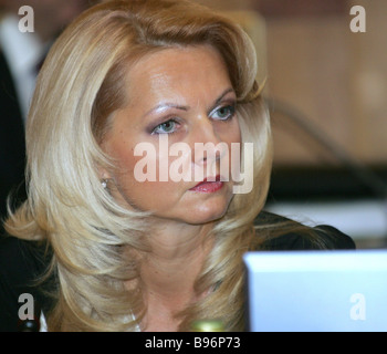 Russian Health and Social Development Minister Tatiana Golikova attends first meeting of the new federal Government - Stock Photo