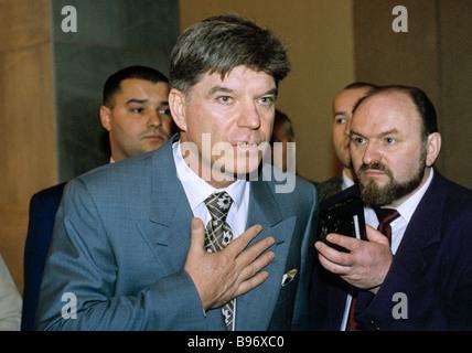 Russian presidential candidate Vladimir Bryntsalov - Stock Photo