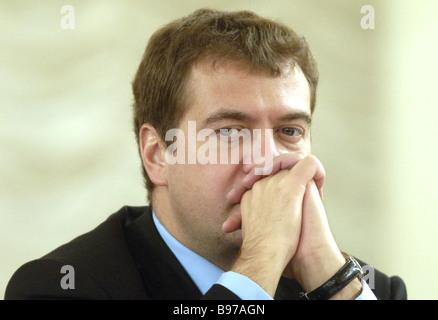 Dmitri Medvedev Russia s First Deputy Prime Minister - Stock Photo