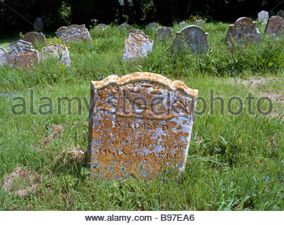 An Early 19th century Gravestone at Wingfield Suffolk UK - Stock Photo