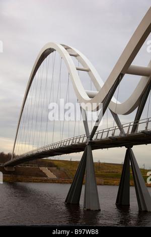 Infinity Bridge, Middlesborough, Teeside. - Stock Photo