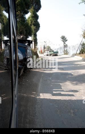 The Darjeeling Himalayan Railway, India - The Toy Train - Stock Photo