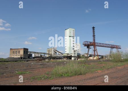 Ten people died out of 277 miners who were down the Vorkutaugol company s Komsomolskaya pit when it was hit by an - Stock Photo