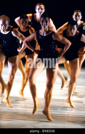 A scene from the ballet Creation presented by the national choreography center Ballet Biarritz France at the 6th - Stock Photo