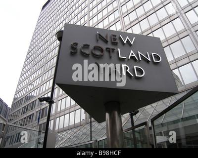 New Scotland Yard police headquarters in London - Stock Photo