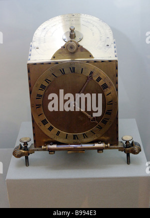 State History Museum Moscow Exposition The Russian Empire in the 18th Century A sundial with versatile gadgetry - Stock Photo