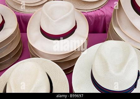 Panama hats Henley Royal Reggata Henley On Thames Oxfordshire - Stock Photo