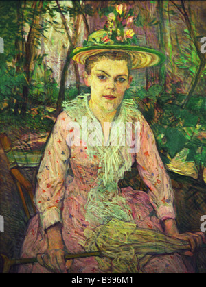 Henri de Toulouse Lautrec 1864 1901 Woman with an Umbrella Berthe the Deaf in the Garden of Monsieur Forest Appeared - Stock Photo