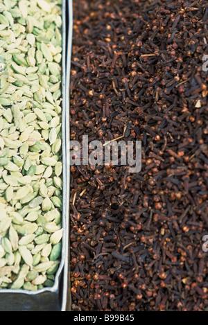 Cardamom and cloves - Stock Photo