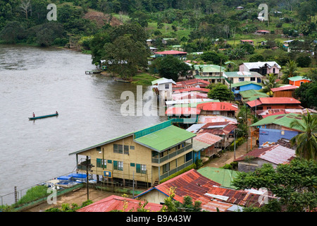 A view from the fortress in El Castillo down to the river San Juan, Nicaragua. - Stock Photo