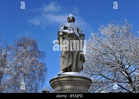 Germany Berlin Goethe statue in Tiergarten city center 2009 - Stock Photo