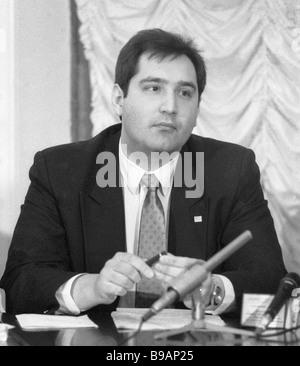 Dmitry Rogozin leader of the International Congress of Russian Communities - Stock Photo