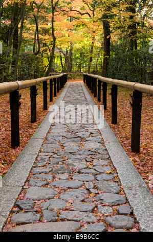 Path to a zen garden at Daitokuji Kyoto Japan - Stock Photo