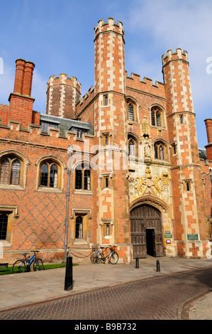 St Johns College Gatehouse Cambridge England Uk - Stock Photo