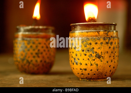 Candle bombs converted from BLU 3 cluster bombs in Ban Na Yhong Laos - Stock Photo