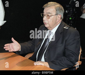 Yevgeny Primakov chairman of the Chamber of Commerce and Industry of the Russian Federation - Stock Photo