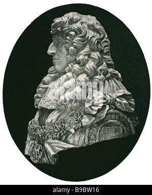Prince Rupert of the Rhine 1619 1682 soldier inventor amateur artist mezzotint - Stock Photo