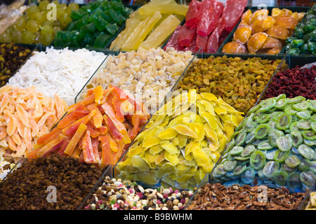 Dried Fruits On A Market Stall For Sale - Stock Photo