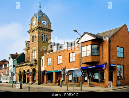 The Town Hall in the High Street in Hungerford Berkshire England UK - Stock Photo